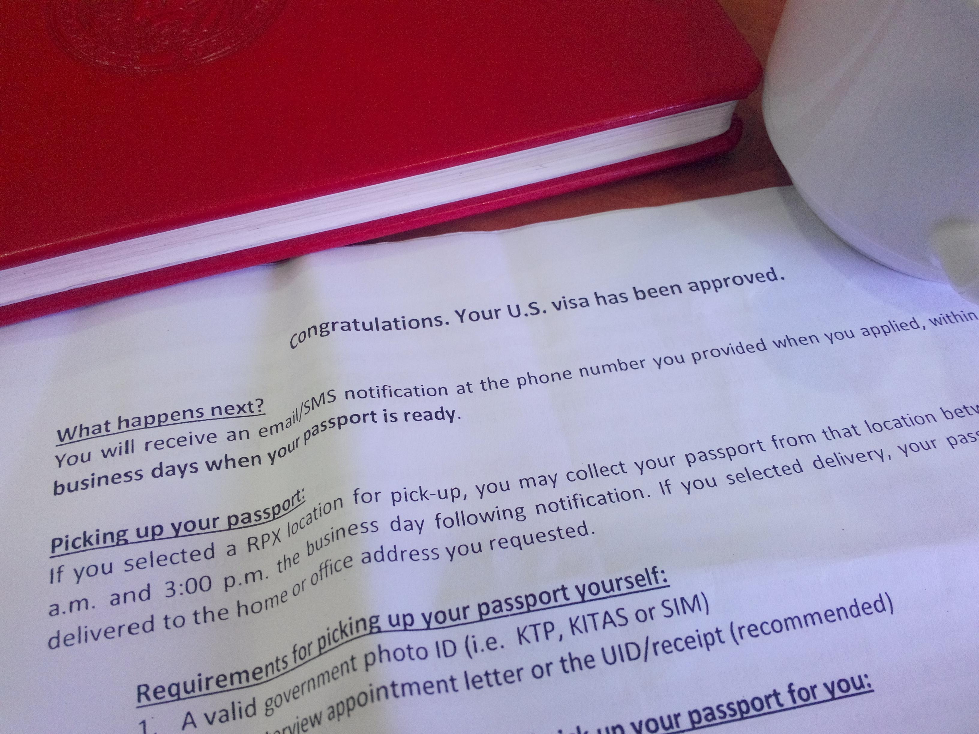 Persetujuan VISA Amerika: Rejeki Anak Sholeh…