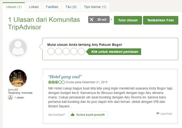 Review Hotel Airy Pakuan Bogor