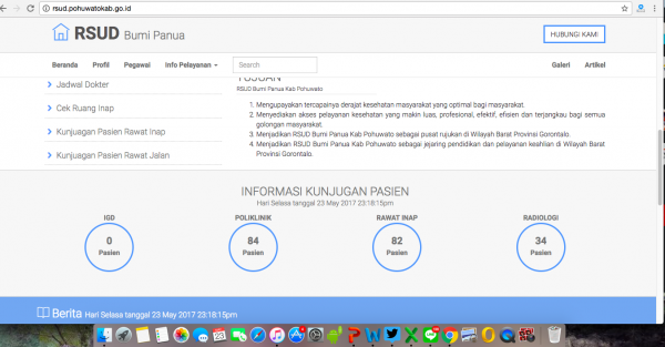 Aplikasi informasi layanan RSUD